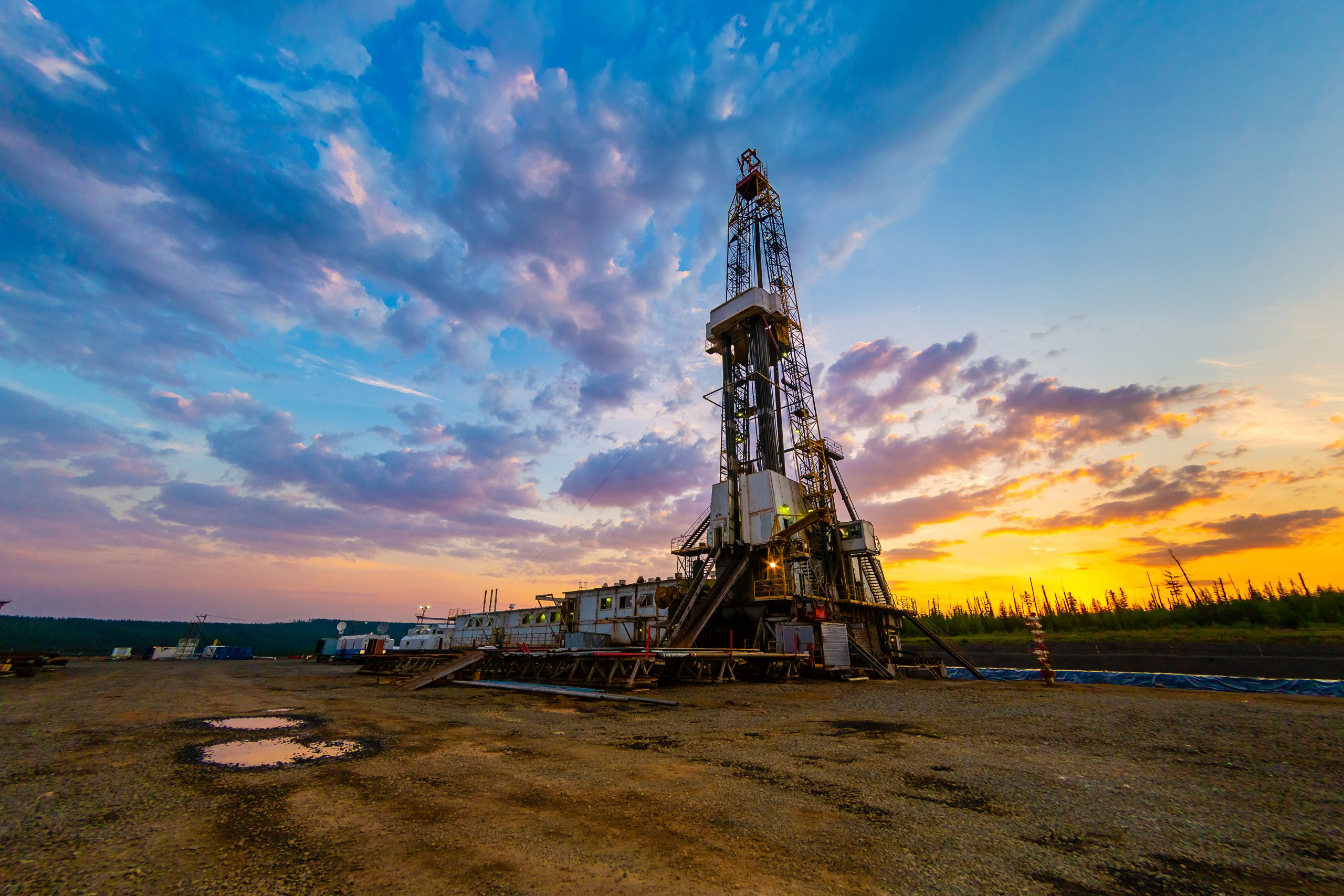 View,Of,The,Device,Of,An,Oil,Drilling,Rig